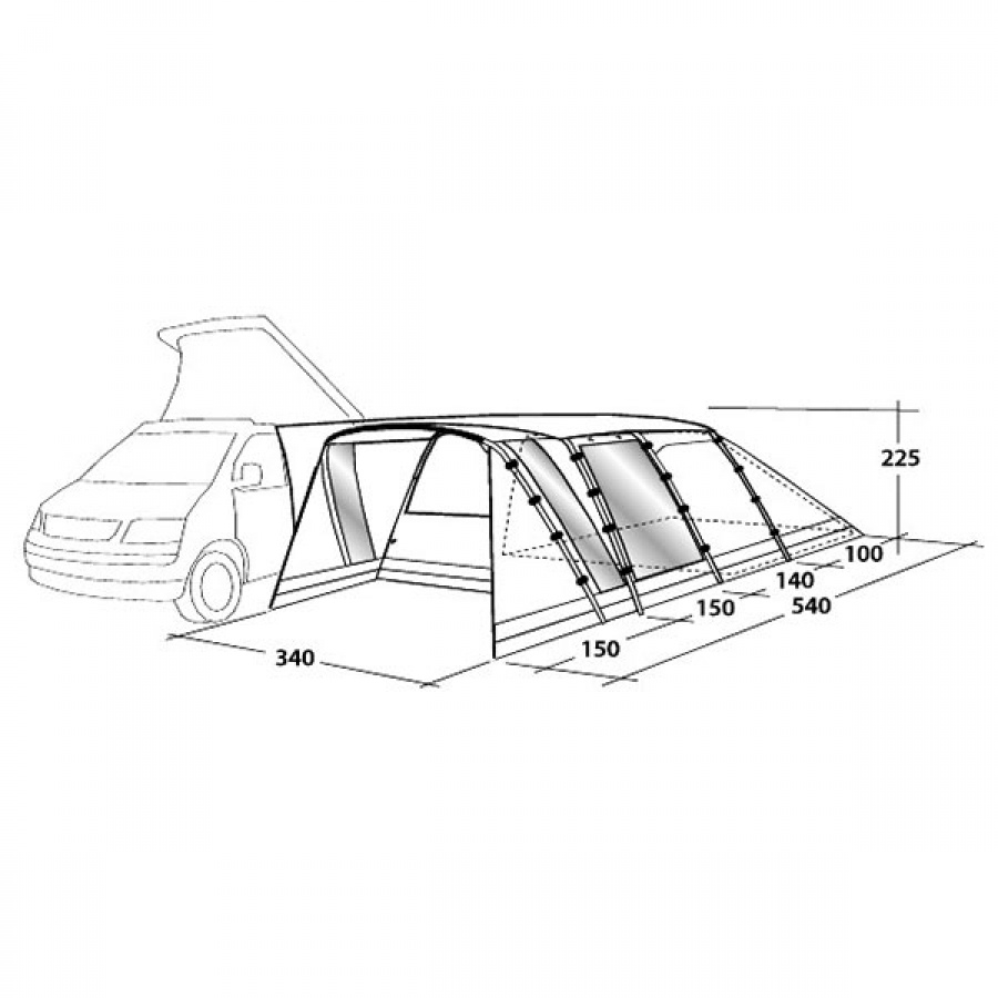 Outwell California Highway Driveaway Campervan Awning